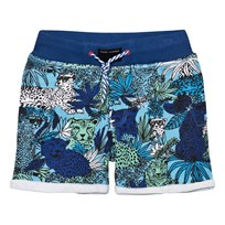 Little Marc Jacobs Blue Jersey Jungle Print Shorts V76