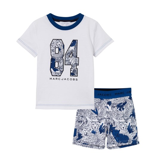 The Marc Jacobs White Branded Tee and Printed Shorts Pyjamas V21