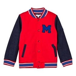 The Marc Jacobs Red and Blue Branded Bomber Jacket