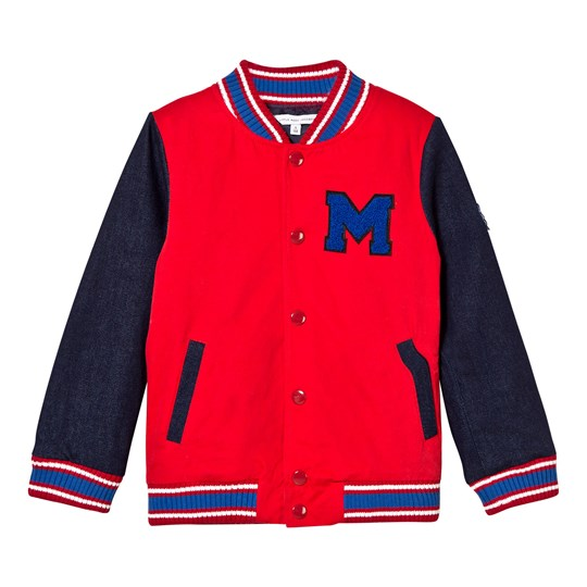 The Marc Jacobs Red and Blue Branded Bomber Jacket X58