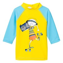Little Marc Jacobs Blue Mr Marc Rash Vest SPF 50 T48