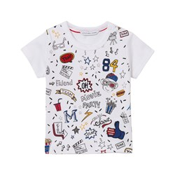 The Marc Jacobs White All Over Print Icon Tee