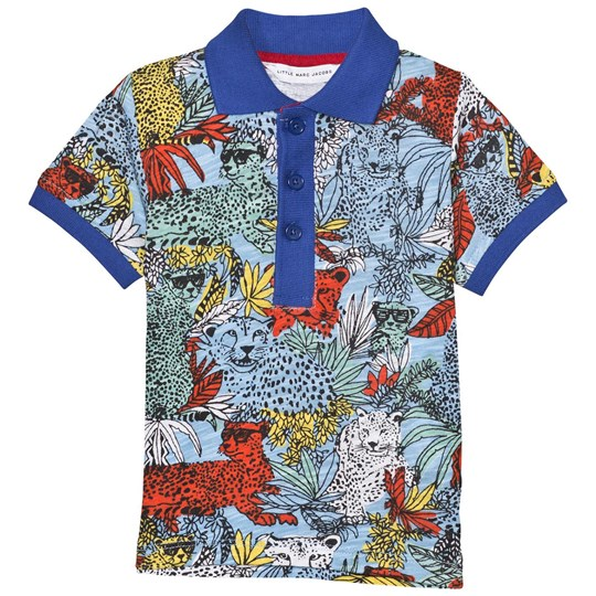 Little Marc Jacobs Multi Jungle Print Polo V55