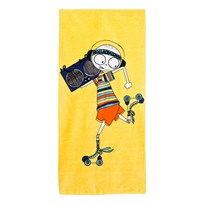 Little Marc Jacobs Yellow Mr Marc Rollerdisco Towel 577