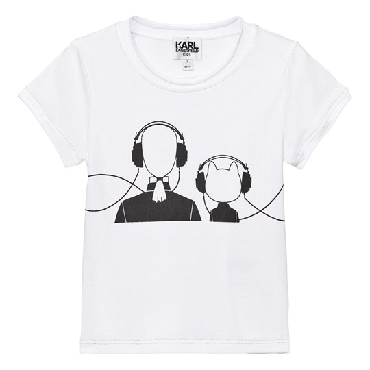 Karl Lagerfeld Kids Choupette and Karl Print T-shirt Mini Me Svart 10B