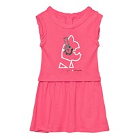 Karl Lagerfeld Kids Pink Choupette Headphones Print Jersey Dress 46C