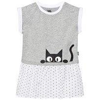 Karl Lagerfeld Kids Grey Karl Print Jersey Dress A10