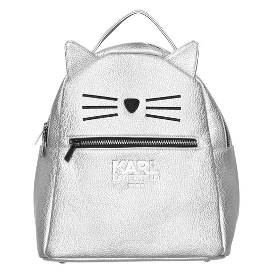 Karl Lagerfeld Kids Silver Choupette Backpack Z40