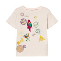 Stella McCartney Kids White Badge Print Arlow Tee 9232