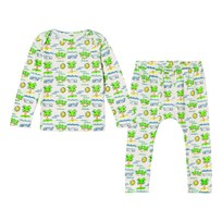 Stella McCartney Kids Green Buster/Macy Beach Print Pajamas 9577