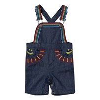 Stella McCartney Kids Sunbeam Overalls with Rainbow Embroidery 4161