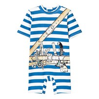 Stella McCartney Kids Stripe Swimsuit Pirate Print 4761