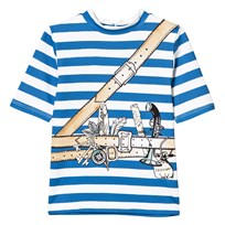 Stella McCartney Kids Splash Swim Blue Pirate Print Tee 4761