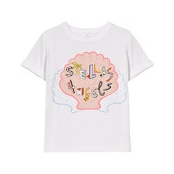 Stella McCartney Kids Stella´s Angels Print Lolly T-shirt Vit