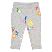 Stella McCartney Kids Grey Melange Floral Print Sweatpants 1461