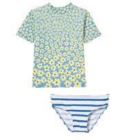 Stella McCartney Kids Summer Swimwear Set Daisy Print with Stripe Briefs 4301