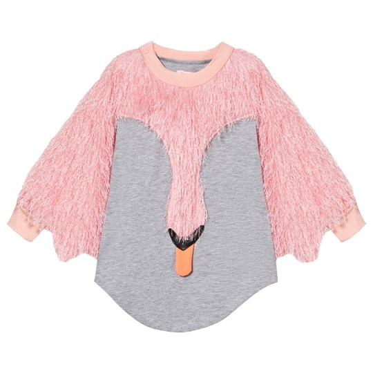 Wauw Capow Pink Fluffy Swan Applique Sylvia Sylph Dress Pink