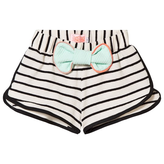 Wauw Capow Sonja Shorts White and Black Stripe White