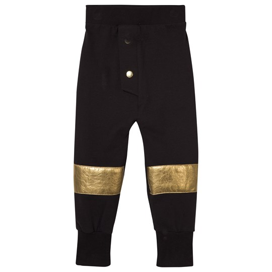 Wauw Capow Hero Track Pants Black and Gold Black