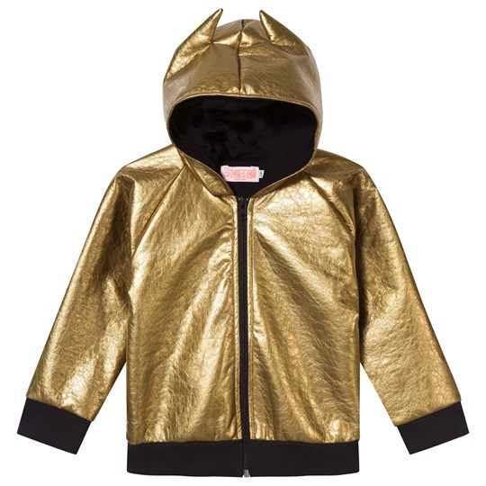 Wauw Capow Metallic Gold Fever Hooded Jacket Gold