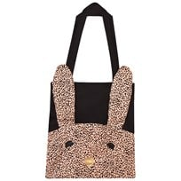 BANG BANG Copenhagen Cotton Tote Bag with Rabbit Applique Black Black