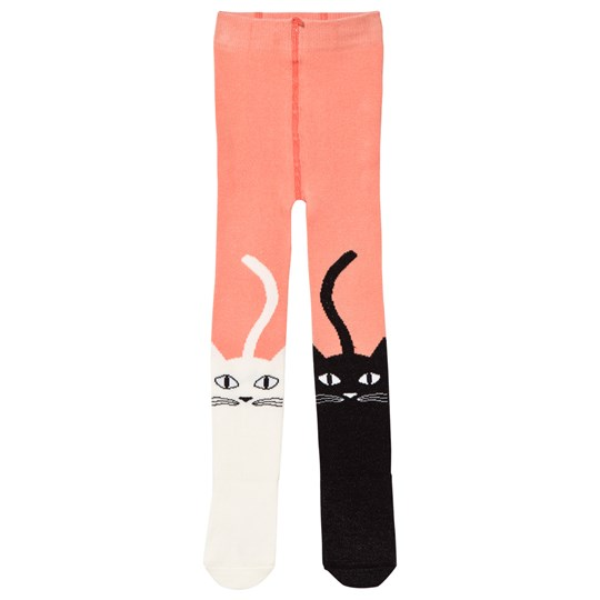 Wauw Capow Poi Poi Cat Tights Pink Pink