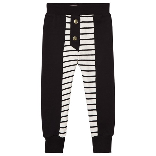 Wauw Capow Black and White Stripe Jersey Leggings Black and White