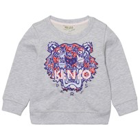 Kenzo Grey Marl and Multi Fabric Tiger Sweatshirt 45