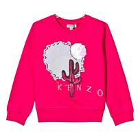 Kenzo Hot Pink Cactus Embroidered Sweatshirt 35