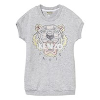 Kenzo Grey  Tiger Print Sweatshirt Dress GreyEmbroidered Sweat Dress 294
