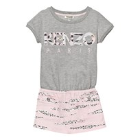 Kenzo Grey Marl and Pink Dress 294
