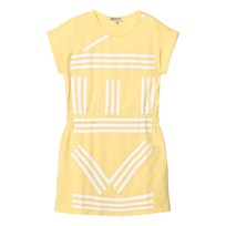 Kenzo Yellow Branded Jersey Dress 07