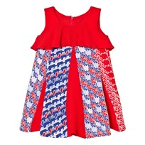Kenzo Red Multi Print Dress 37