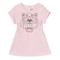 Kenzo Pale Pink Tiger Print Jersey Dress 32