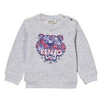 Kenzo Fabric Tiger Sweatshirt Grey Marl 45