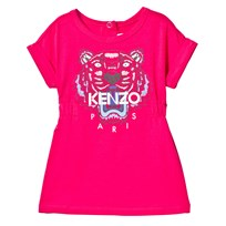 Kenzo Hot Pink Tiger Print Jersey Dress 35