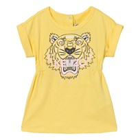 Kenzo Yellow Tiger Print Jersey Dress 07