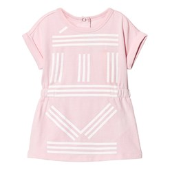 Kenzo Pink All Over Branded Jersey Dress