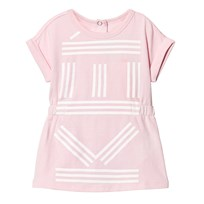 Kenzo Pink All Over Branded Jersey Dress 32