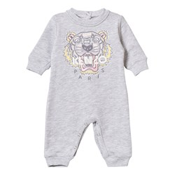 Kenzo Grey Tiger Embroidered One-piece