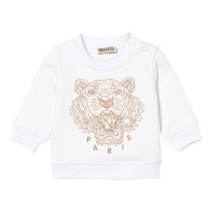 Kenzo White and Gold Embroidered Sweatshirt 12 months