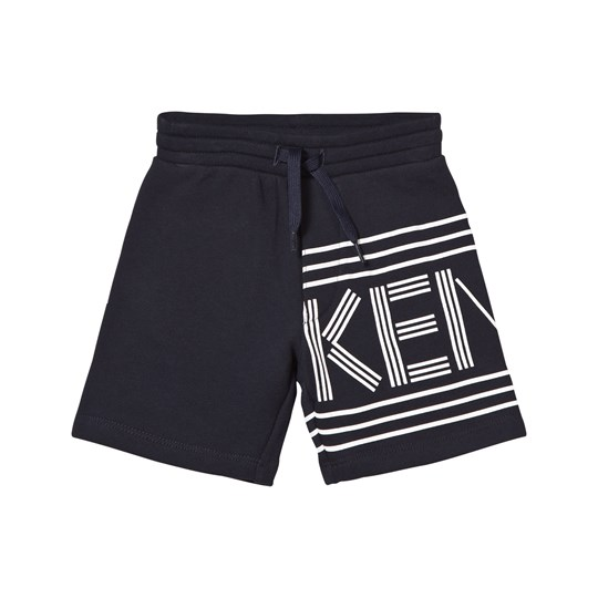 Kenzo Navy Branded Sweat Shorts 04