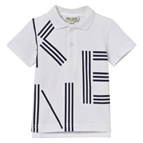 Kenzo White and Navy Branded Polo 01