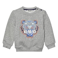 Kenzo Grey Marl Tiger Embroidered Sweatshirt 20