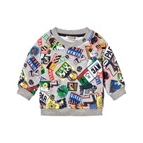 Kenzo Grey Marl All Over Boarding Pass Sweatshirt 20