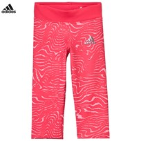 adidas Hot Pink Patterned Capri Leggings CORE PINK