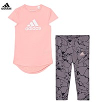 adidas Pink Tee and Leggings Set STILL BREEZE