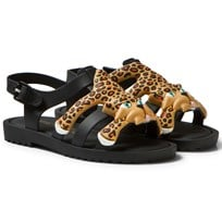 Mini Melissa Mini Flox + Jeremy Scott Sandals Black 51565