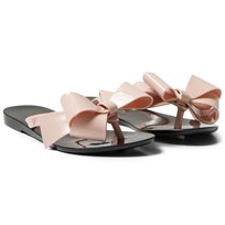 Mini Melissa Mel Harmonic Flip Flops Black and Pink 50837