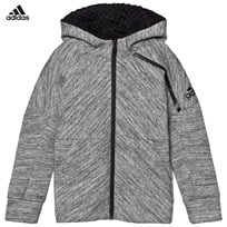 adidas Grey Road Trip Zone Hoodie STORM HEATHER